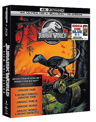 JURASSIC MOVIE COLLECTION 5 FILM (10 BLU-RAY 4K ULTRA HD + BLU-RAY) Chris Pratt