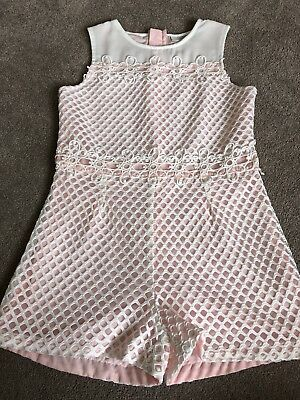 Girls matalan Lace Detail Playsuit Worn Once In Perfect Condition Age 8 Years