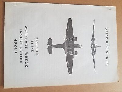 Wreck Review no 13 early aviation archaeology RAF WW2 LUFTWAFFE great reference
