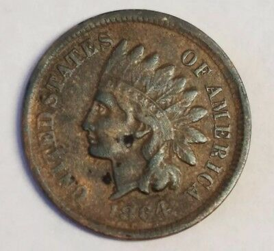 1864 L Indian Head Cent VF-XF Details