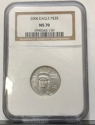 2006 USA $25 Platinum Eagle 1/4 oz Coin - NGC MS 70  1990343-139---STUNNING COIN