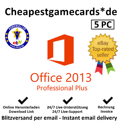 Microsoft Office 2013 5 PC Professional Plus MS Office 2013 PP key per email