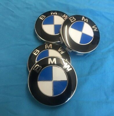 BMW Alloy Centre Caps 68MM Set of 4 Fits 1 2 3 4 5 6 7 8 Series  M X i