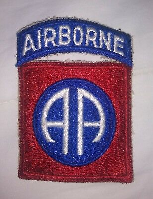 Repro WWII US Army 82nd AIRBORNE DIVISION Patch US Paratrooper Shoulder cut edge