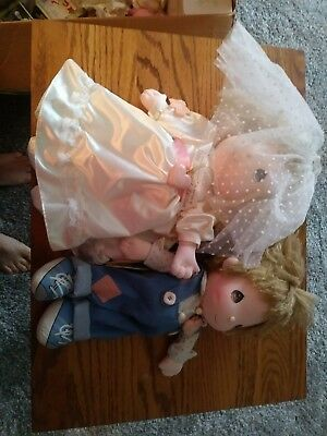 1990 Limited Edition Precious Moments Bride And Groom By Applause
