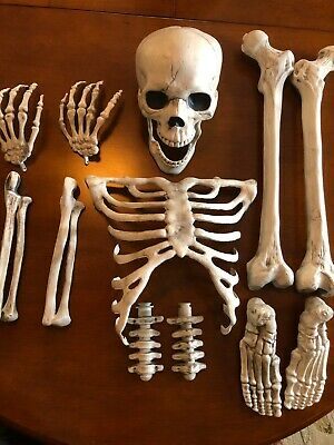 Bag of Bones Halloween 13 Pc Skeleton Bones Spooky Prop Decor Haunted House