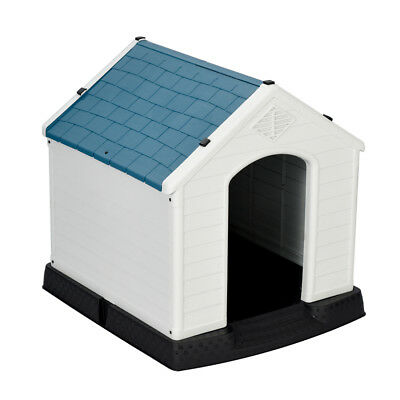 NEW Outdoor Indoor Waterproof Plastic Dog House for Small Dogs Winter Dog Kennel