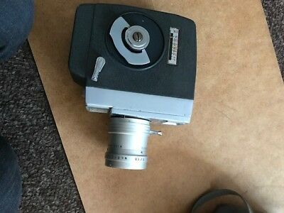 vintage Jelco mechanical wind up cine camera with telephoto wide lens and case