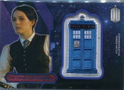 2015 Topps Doctor Who Victoria Waterfield Purple Tardis Patch Card #34/99
