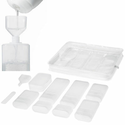 IKEA 10 Piece Clear Airport Security Liquid Containers - Plastic Bottles With...