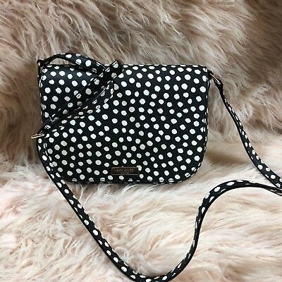 Brand New KATE SPADE LAUREL WAY MUSICAL DOT FLORAL LARGE CARSON NWT
