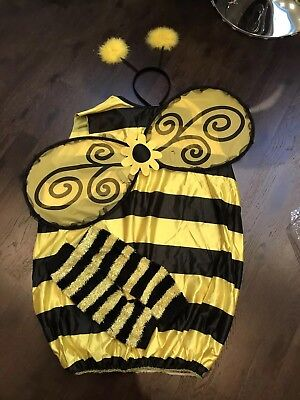 Bumblebee dressing up costume Medium 4 piece, with wings - Halloween. Worn Once