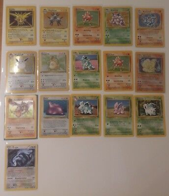 Pokemon Kartensammlung Base Jungle Fossil alte Holo Karten