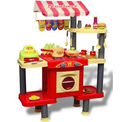 Kitchen Play Set Toy Kids Pretend Food Role Cooking