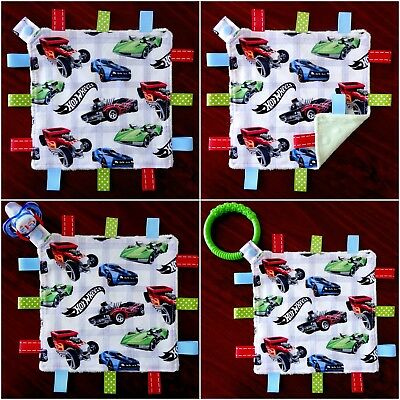 Hotwheels Mini Size TaGgie Taggy Tag Blanket Toy comforter Dummy clip Holder
