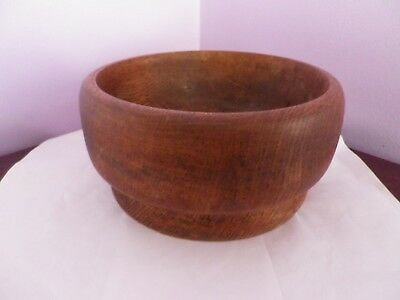 Fabulous Vintage Rustic Heavy Wooden Turned Fruit Bowl 20 Cms Dia, 10 Cms Tall