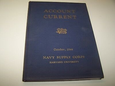 WW2 WWII USN Wave Navy Supply Class Book Oct, 1944 named Ens. Anne Y. Kindling