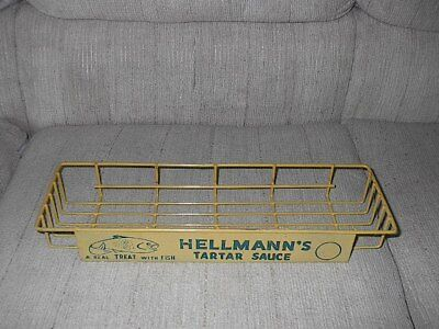 Vintage Hellmann's Tartar Sauce A Real Treat with Fish  Advertising Display rack