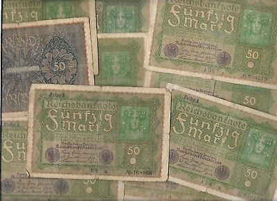 Rare Old Antique German Post WWI War Berlin Mark Note Germany Big Collection Lot