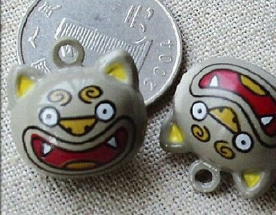 Cat collar bell charm / is your cat a bit of a Vampire / ring attached
