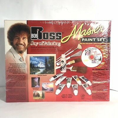 Bob Ross Joy of Painting Master Paint Set W CD NIOSB