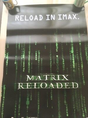The Matrix Reloaded (2003) original movie poster IMAX Keanu Reeves DS See Pics
