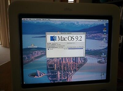 Apple eMac G4 1Ghz, 512Mb RAM - Native OS9 Boot!