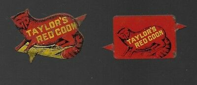 Vintage Taylor's Red Coon Tobacco Tags