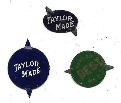 Vintage Taylor Made Best Tobacco Tags....Taylor Bros....Set of 3 Different
