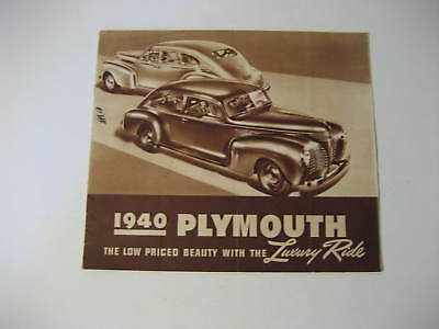 1940 Plymouth Car Advertising Brochure