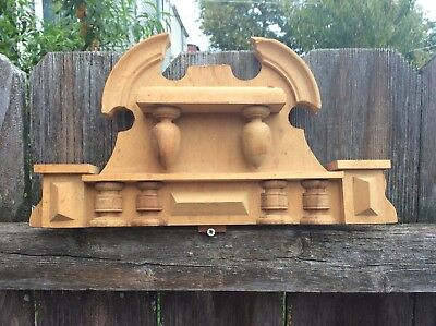 A Large Unstained German Vienna Regulator Wall Clock Crown Topper, Parts/Repairs