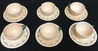 6  Poppytrail California Provincial Rooster Cups & Saucers (SH12)