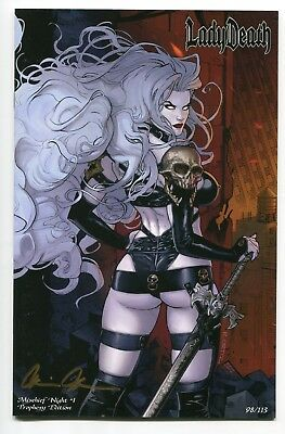 Lady Death Mischief Night #1 PROPHESY Variant Cover by Richard Ortiz Signed