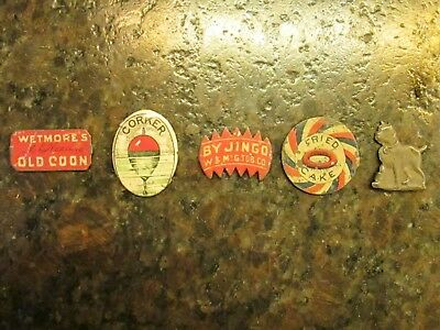 ANTIQUE TOBACCO TAGS LOT OF 5 ALL DIFFERENT 1800'S 1900'S Some Rare SEE OTHERS