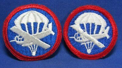 WWII Army Air Forces Glider Pilot Patches Lot Of 2 - NO GLOW