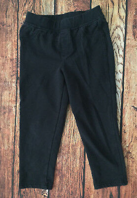 Tea Collection Girls Skinny Capri Pants Navy Blue Solid Size 6