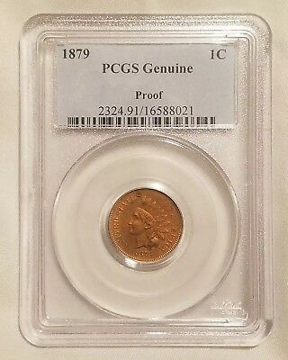 1879 Proof Indian Head Cent PCGS Genuine