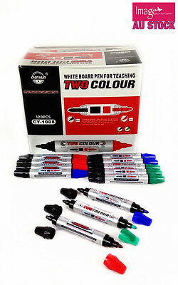 Pack of 120pcs White Board Markers Two Color Bulk Dry Erase Marker CY1008 YW