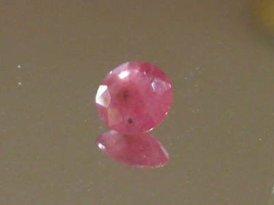 Ruby Pink/Red Sparkling Natural Ruby Gemstone,5.8 mm round, 1.5 ct