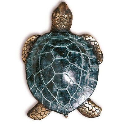 Antiqued Solid Brass Nautical Decor Sea Turtle Tortoise Door Knocker doorknocker
