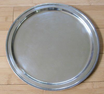 Sterling Tiffany & Co. Makers Round Platter 83792