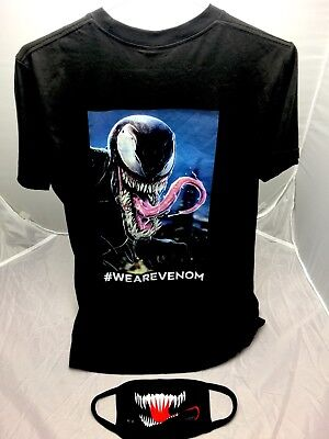 SDCC 2018 VENOM Mask + EXTRA LARGE T Shirt - TOM HARDY RARE EXCLUSIVE Comic Con