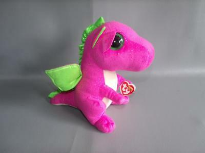 New! Ty Beanie Boos *DARLA the Pink Dragon* Stuffed Toy Animal Doll Size 9""
