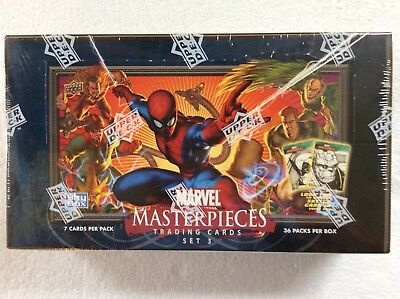 Upper Deck Marvel Masterpieces Factory Sealed Box Series 3 2008