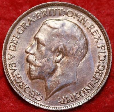 Uncirculated 1919 Great Britain 1/2 Penny Foreign Coin
