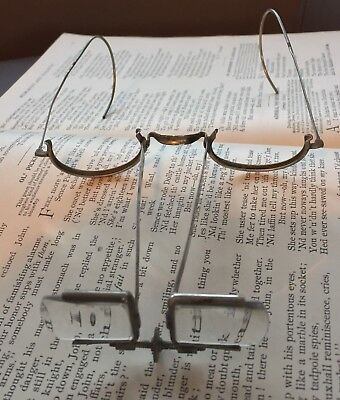 a116ccd43678 ANTIQUE OPTICAL Binocular BEEBE Loupes Magnifying Glasses Optic American  Optical