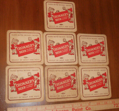 TROMMERS MALT BEER Inventor series coasters 5 diff BROOKLYN New York 5 diff ORIG
