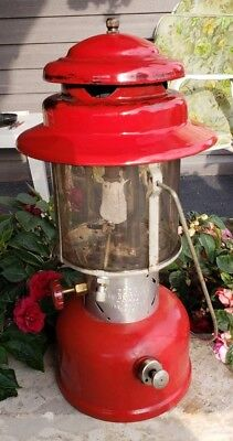 Vintage Coleman Lantern  Model 220E Red Double Mantle Sunshine Of The Night