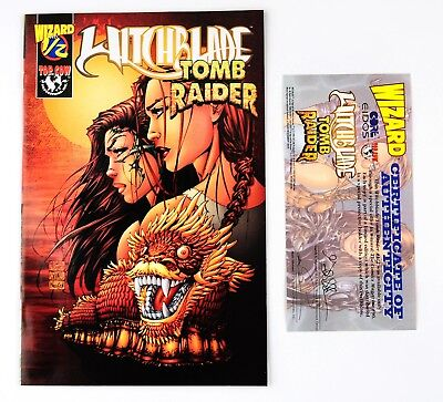 Top Cow Comics - Wizard ~ 1/2 Witchblade Tomb Raider Ltd Edition w/COA VF/NM