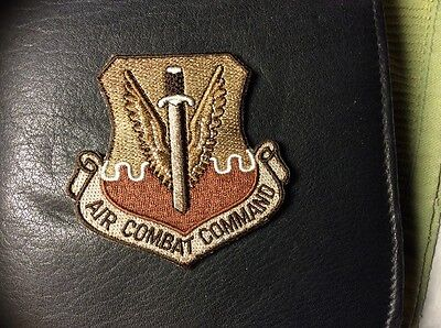 "U.s.a.f. Air Combat Command Desert Patch, 3"" Size, Hook & Loop Back"